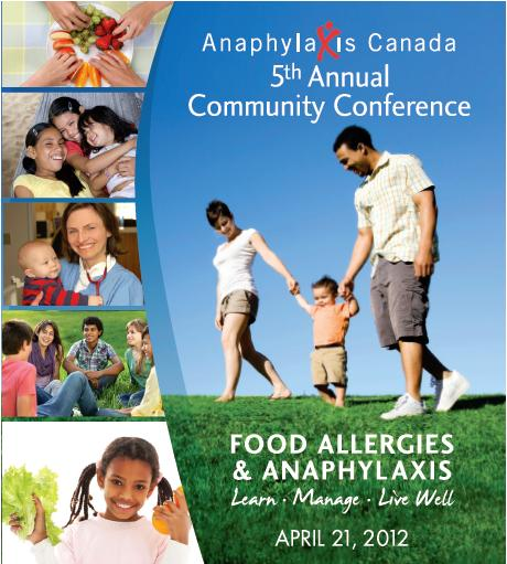 Promotional image for 2012 Anaphylaxis Canada Community Conference