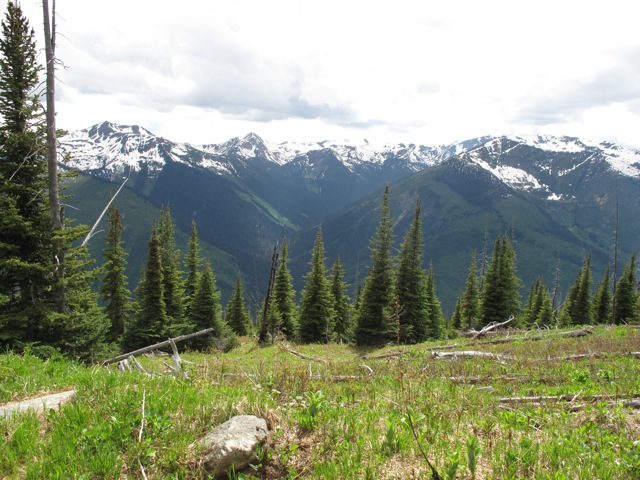 A view of the Rocky Mountains in Alberta, Canada