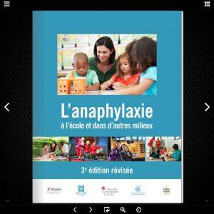 L'anaphylaxie a l'ecole et dans d'autres milieux, 3e edition flipbook