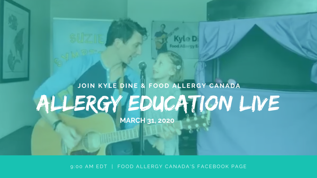 Food Allergy Education Live with Kyle Dine