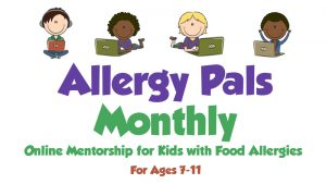 Logo for Allergy Pals monthly.
