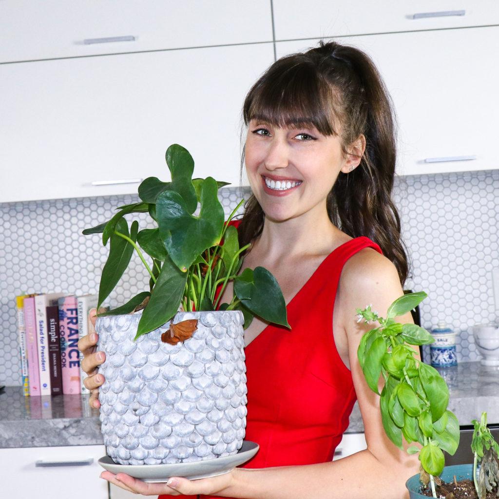 Amanda Orlando in her kitchen