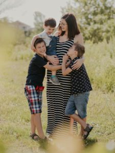 Annie with her 3 sons