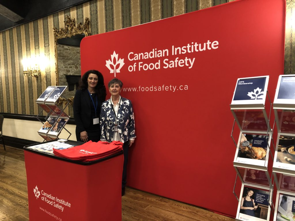 Beatrice and Marilyn speaking at the Canadian Institute of Food Safety