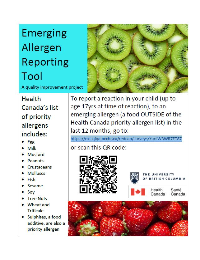 Emerging allergen reporting tool poster