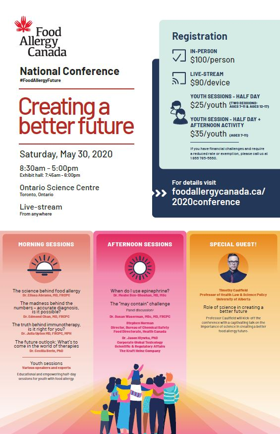 Food Allergy Canada's 2020 national conference poster