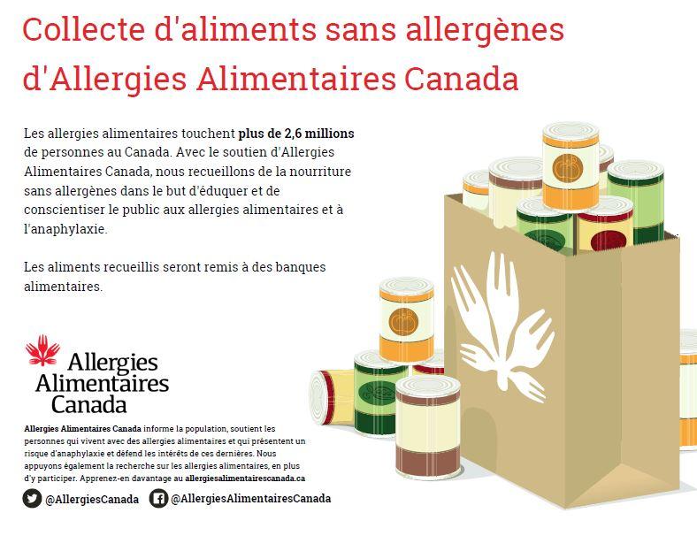 Collecte d'aliments sans allergènes
