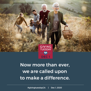 Now more than ever, we are called upon to make a difference. GivingTuesday graphic.