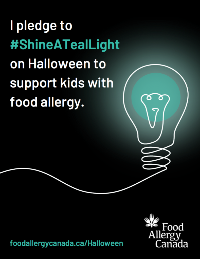 Shine a teal light pledge poster