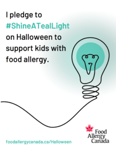 Shine a teal light pledge poster