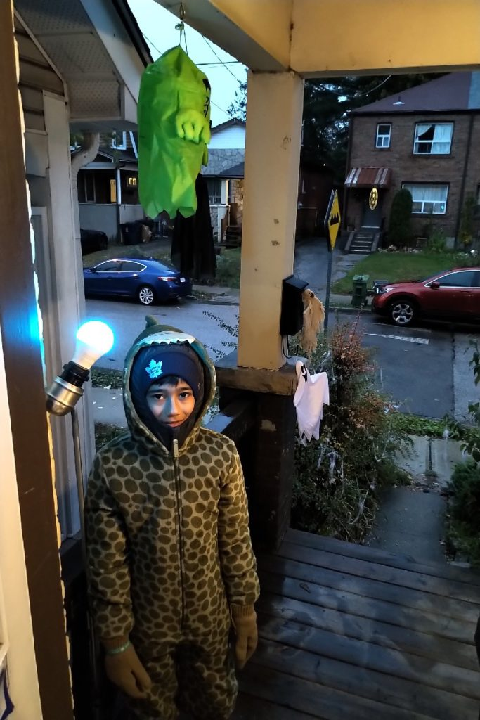 Shining a teal light on Halloween