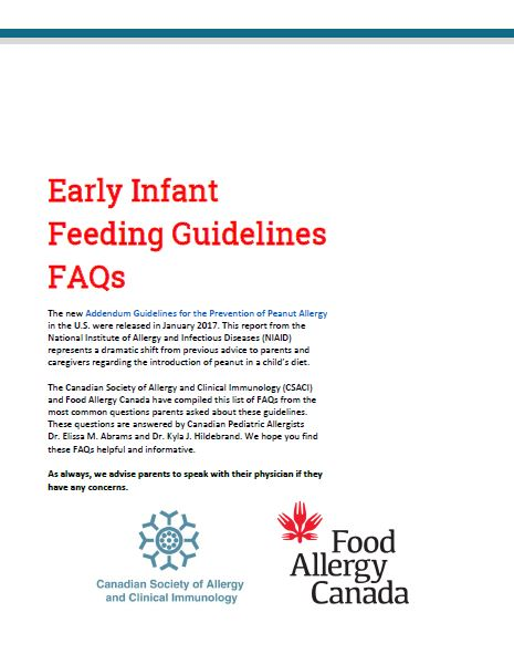 Early introduction - Food Allergy Canada