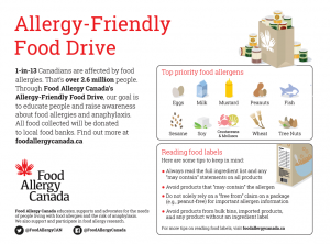 Food Allergy Canada's Allergy-Friendly Food Drive information sheet