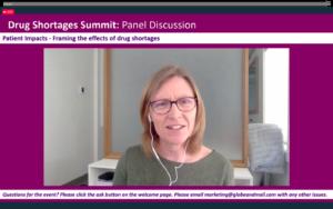 Jennifer at the Drug Shortages Summit