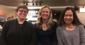 Stephanie, Elaine and Sarah, leaders of Metro Vancouver support group.