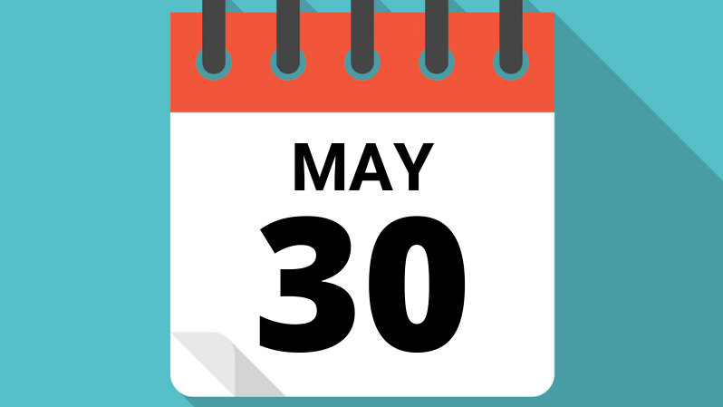 May 30 calendar icon