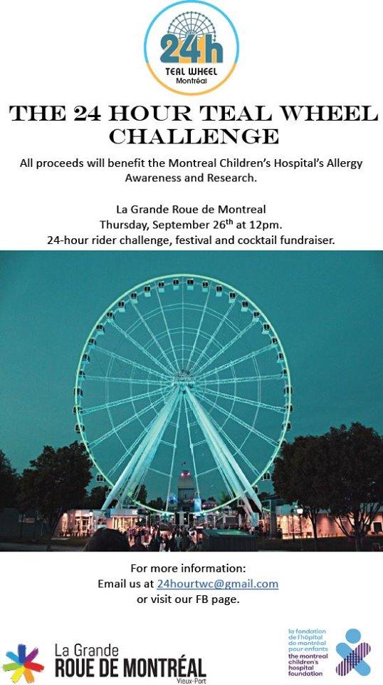 Montreal 24 hour teal wheel challenge flyer