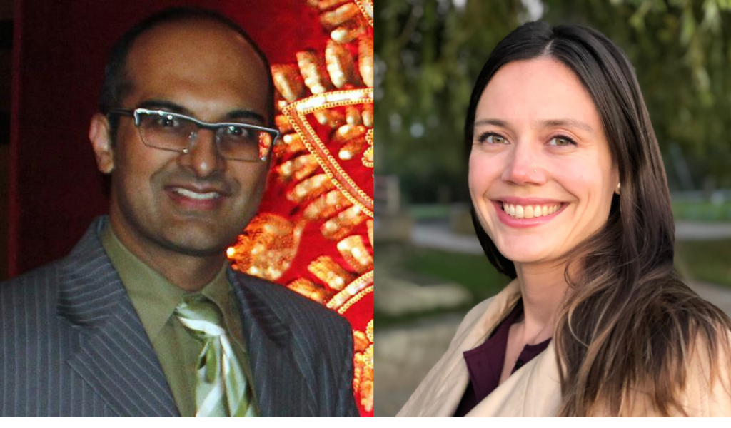 Dr. Vishal Avinashi and Kirstin Wingate