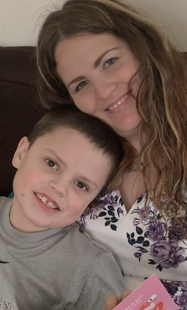 Robyn Buchan and her son