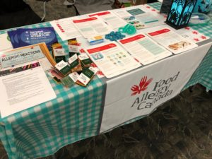 Support group table at the Saskatoon Family Expo