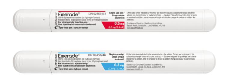Emerade epinephrine auto-injectors
