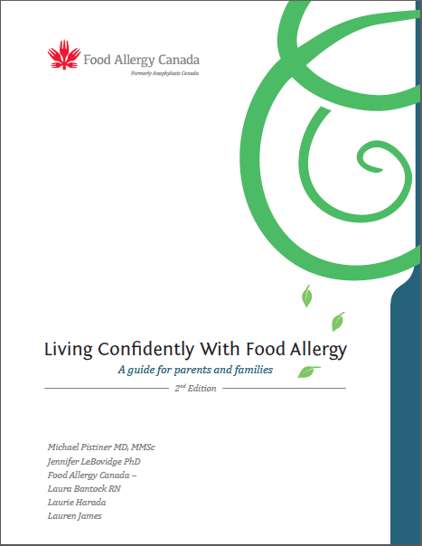 Cover page of Living confidently with food allergy handbook
