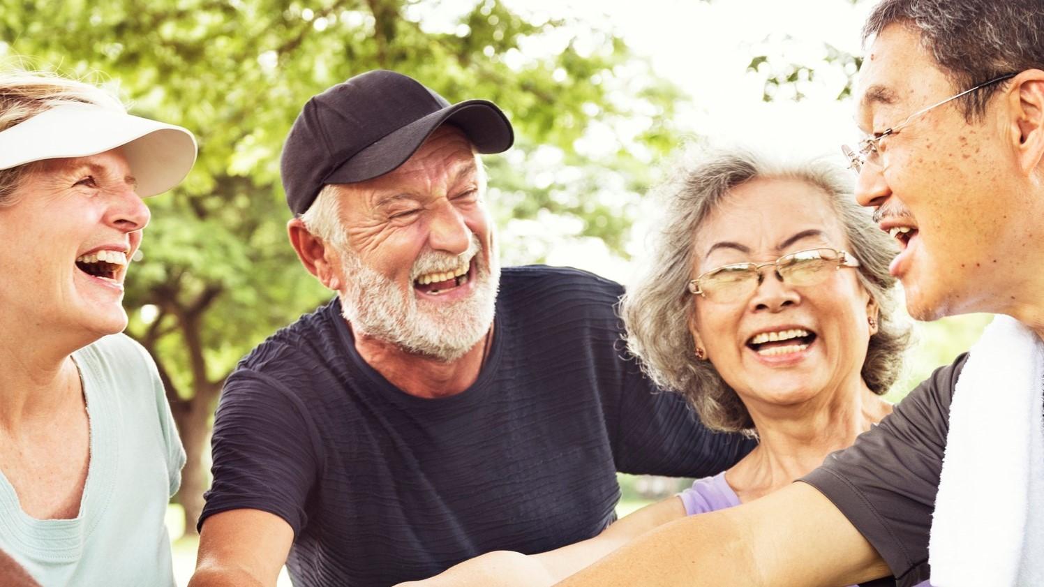 Group Of Senior Retirement Exercising