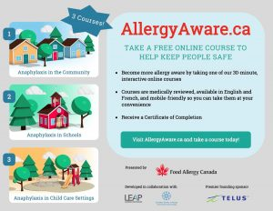 Allergy Aware flyer
