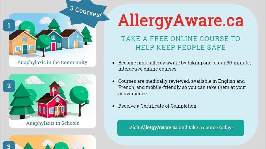 Flyer for Allergy Aware