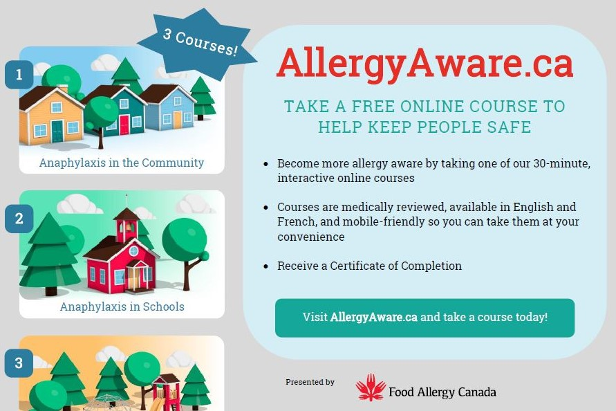 What we offer - Food Allergy Canada