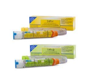 EpiPen (0.3 mg) and EpiPen Jr (0.15 mg)