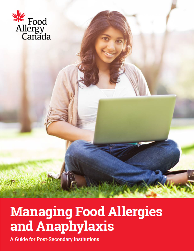Front cover of Food Allergy Canada's Post-Secondary Guide