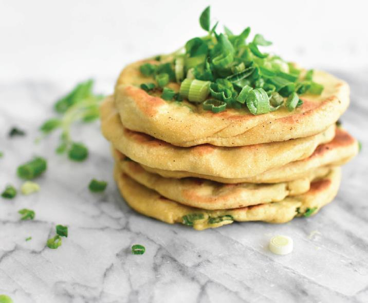 Allergy-friendly green onion cakes