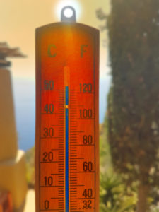 Hot Thermometer in the sun