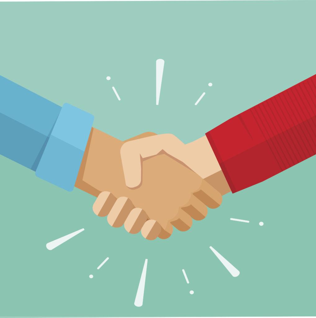 Shaking hands vector illustration