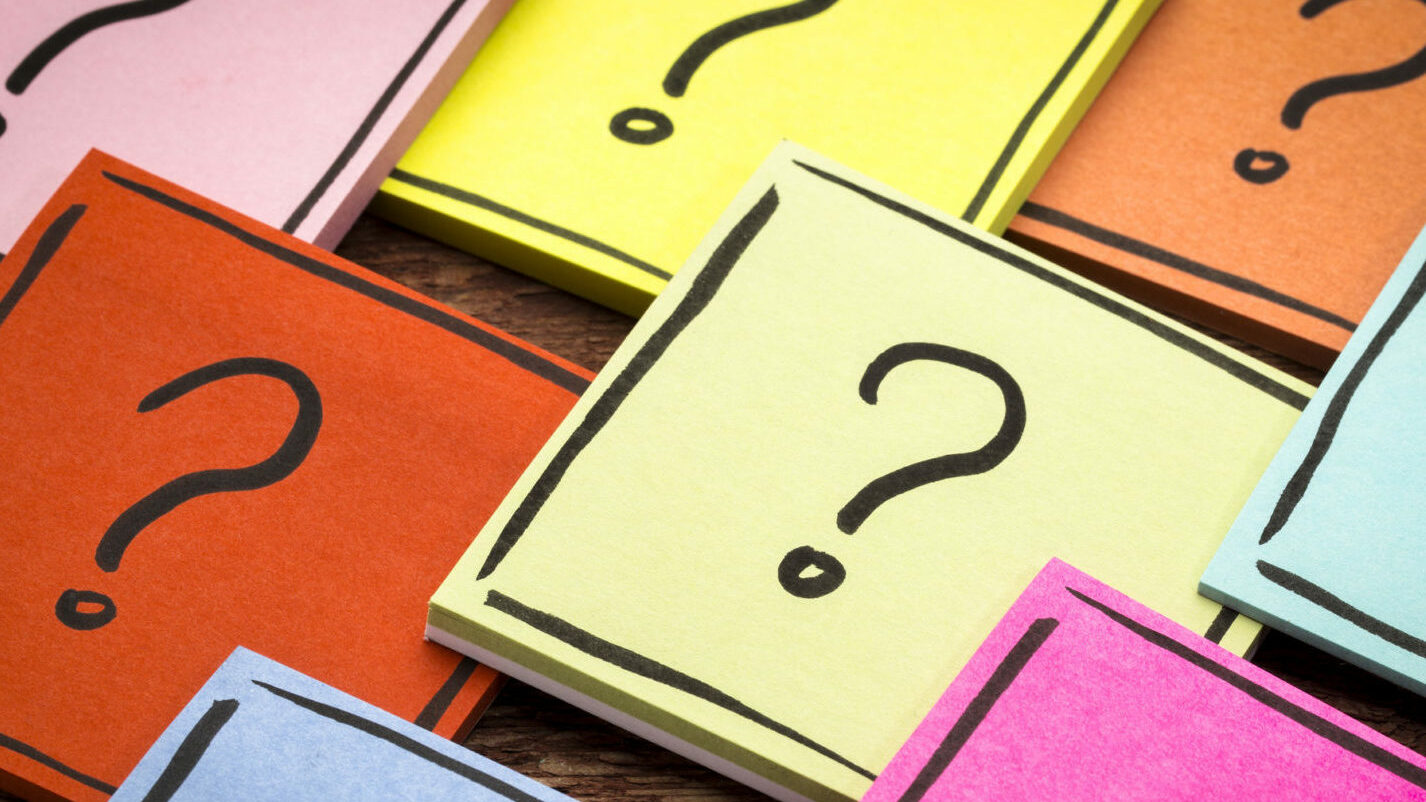 question mark abstract - sticky note set