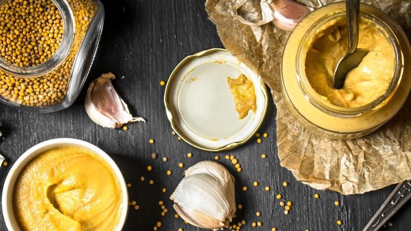 Ingredients for making mustard.