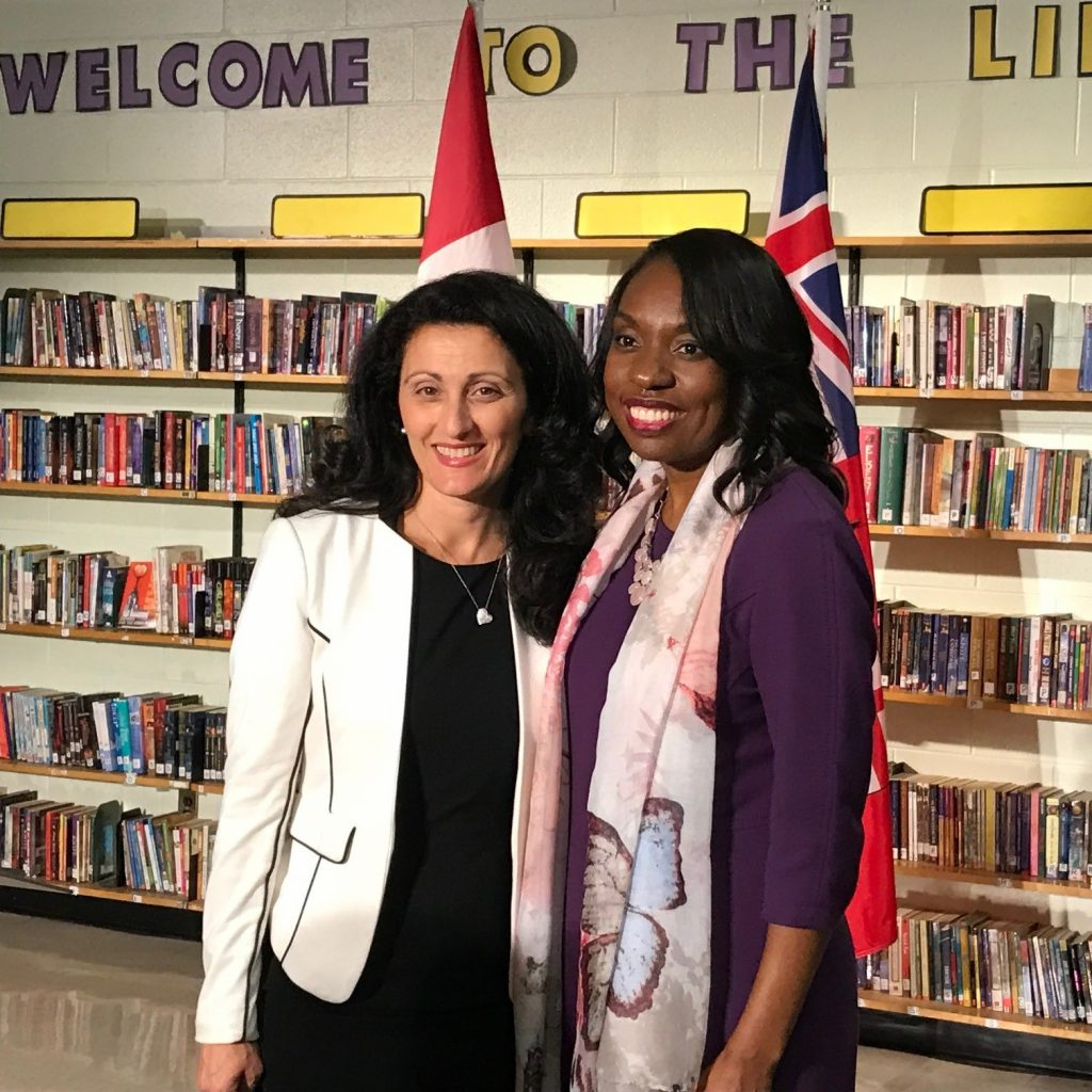 Hon Mitzie Hunter, Minister of Education and Beatrice Povolo of Food Allergy Canada