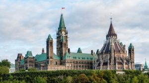 Parliament Hill in Ottawa - Ontario, Canada