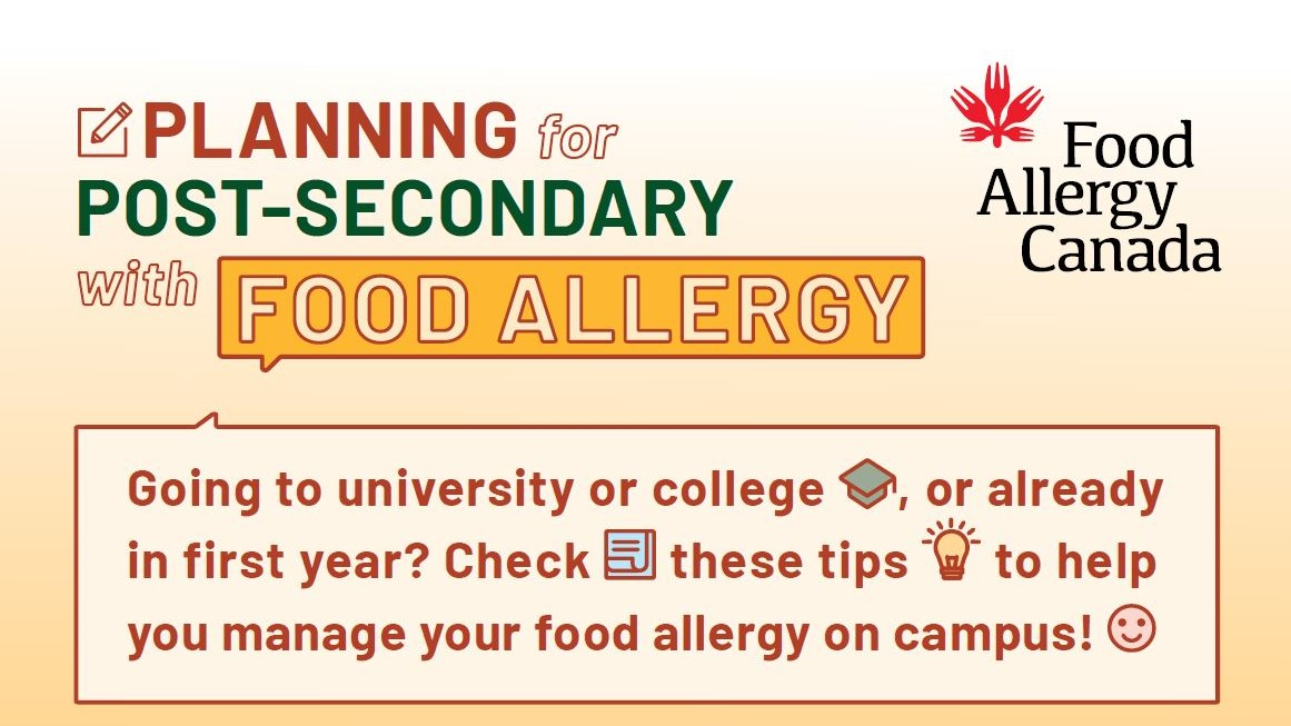 Planning for post-secondary with food allergy