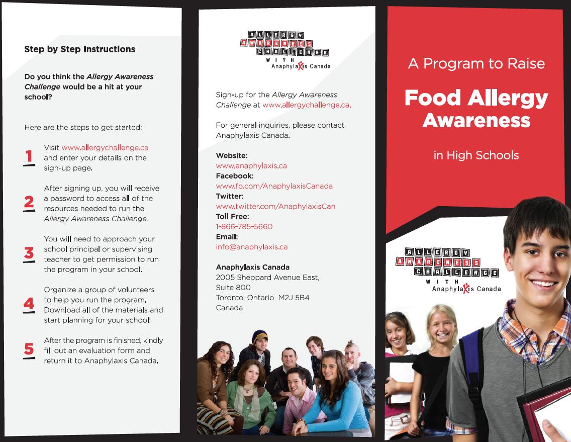 Download the new brochure at http://www.allergychallenge.ca/program-brochure.html