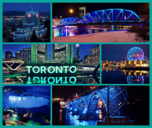 Various monuments across Canada light up teal for food allergy awareness