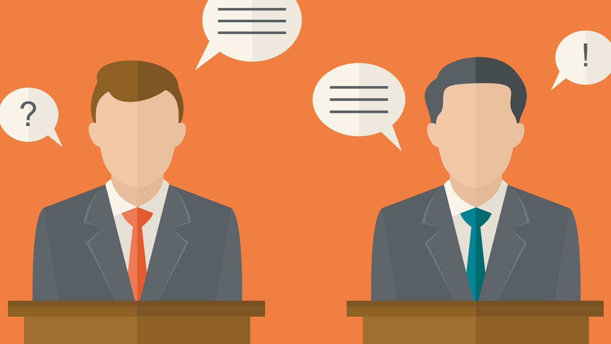 Candidates speaking