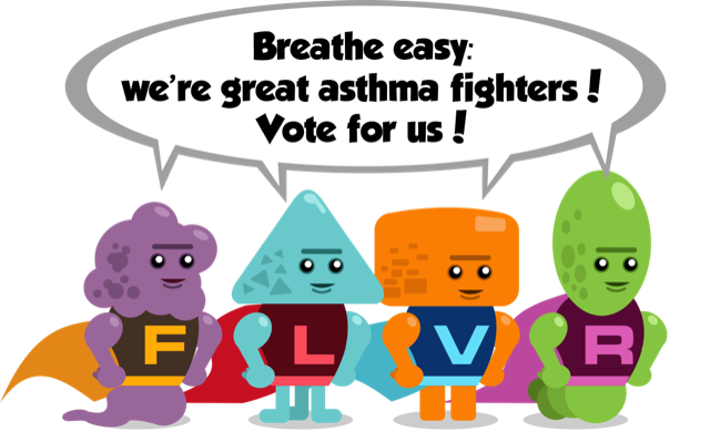 Breathe easy: we're great asthma fighters! Vote for us!