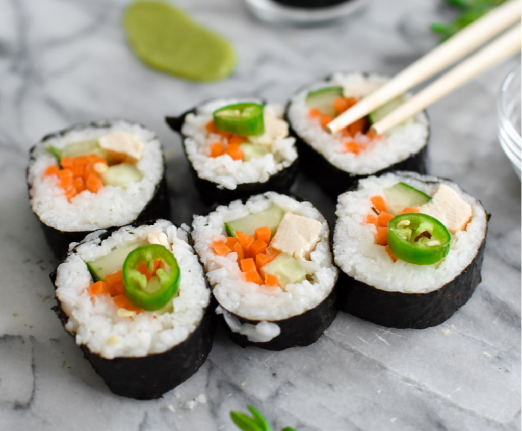 Allergy-friendly sushi